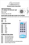 Instruction Manual for Amoray Underwater LED Light's Remote