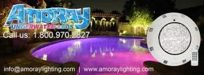 Underwater inground pool lights amoray 12v nicheless for Pool trade show atlantic city