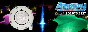 Amoray Underwater Light for Pools, Ponds, Water features