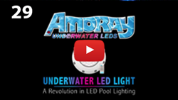AMORAY UNDERWATER LED LIGHT FOR POOL PONDS FOUNTAINS DOCKS
